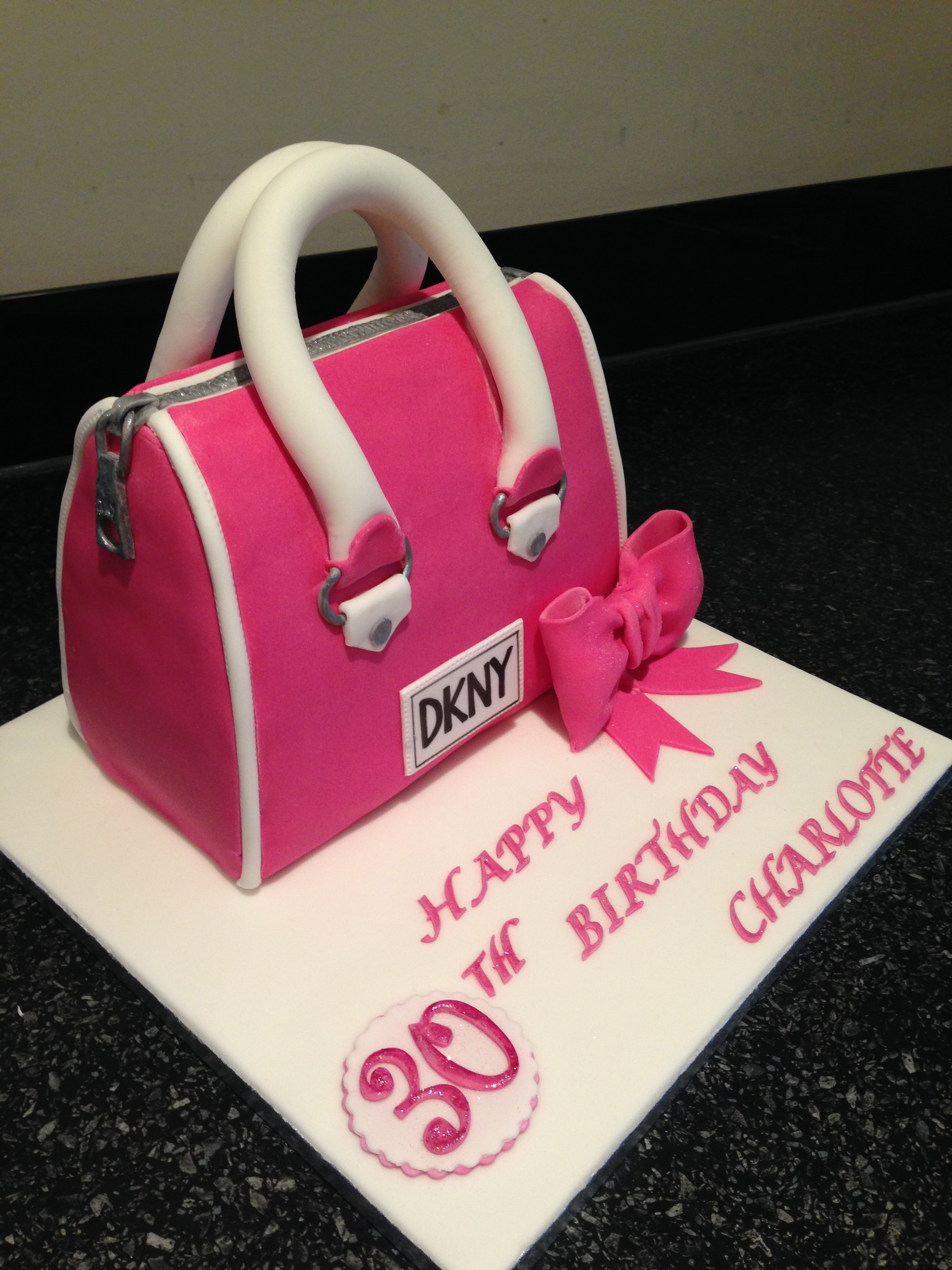 Handbag Cakes Images Dkny Handbag Cake