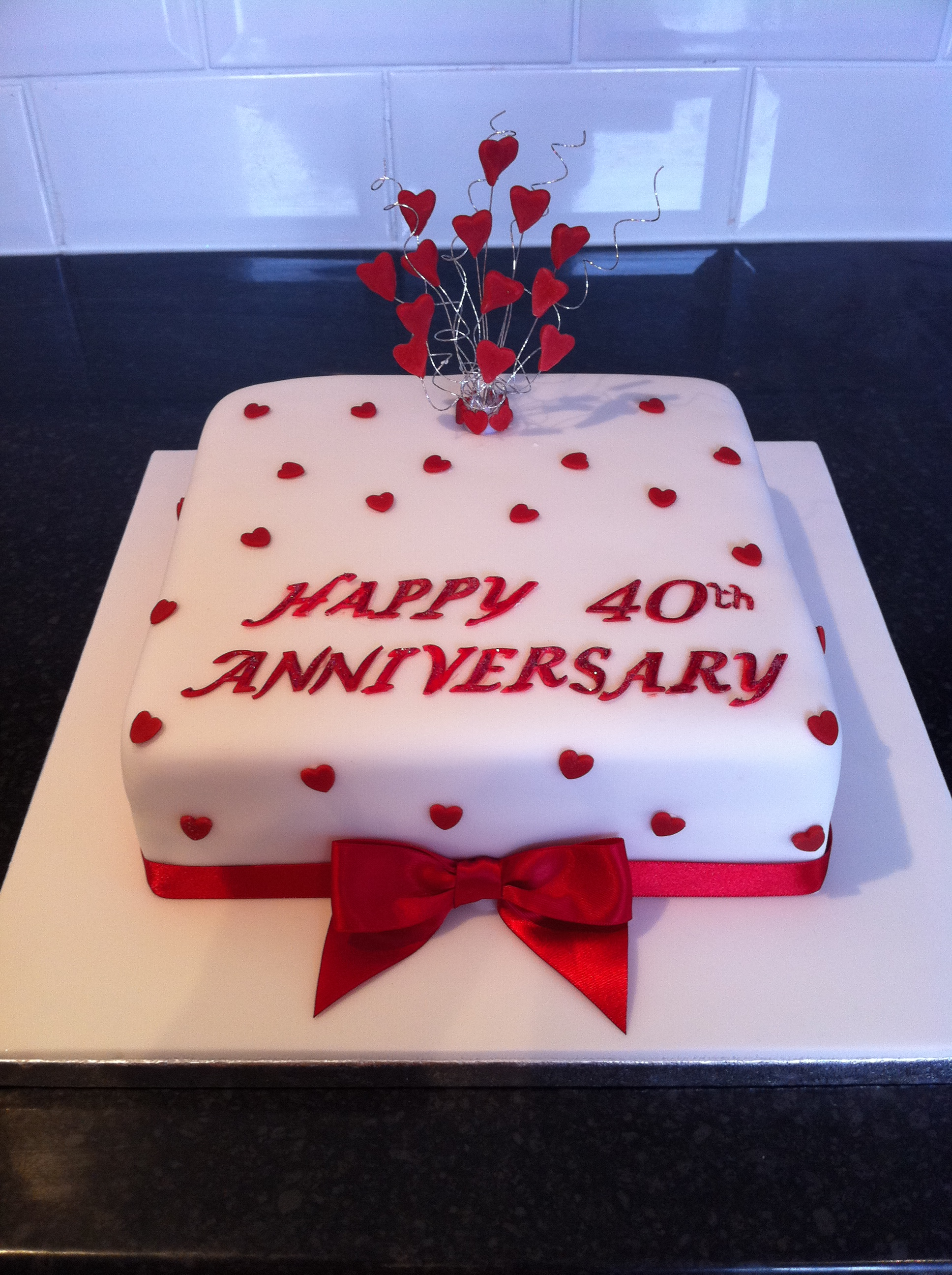 Ruby anniversary cake ideas and designs